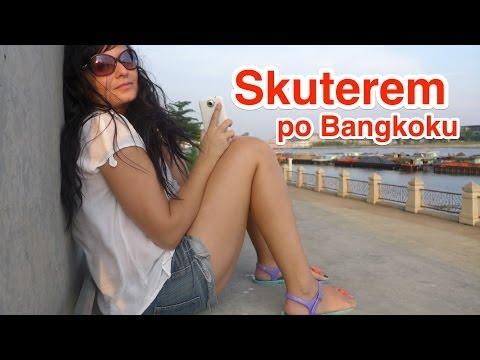 Skuterem #2 po Bangkoku - Powrót z Lumpini, Mega most