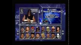 WCW Thunder PS1 Hidden Characters