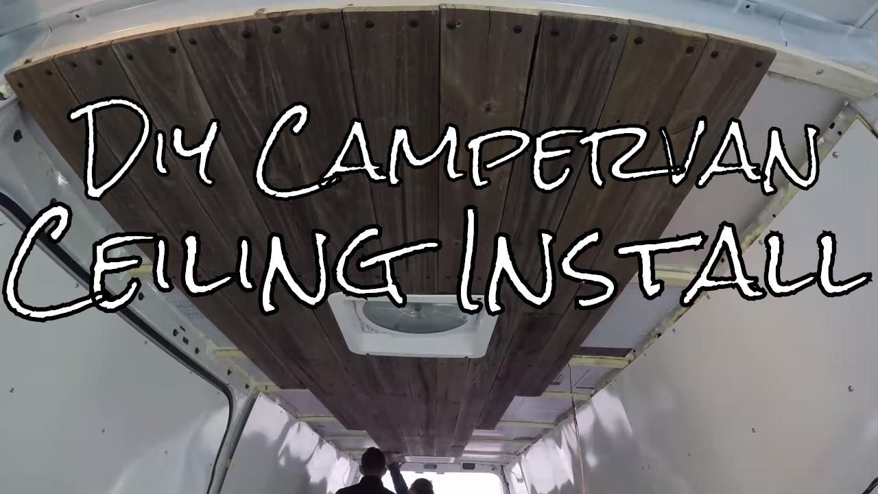 Installing Campervan Ceilings 🚐 | DIY Campervan Build