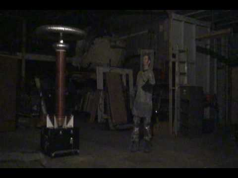 Musical Tesla coils and Faraday suit - Imperial March