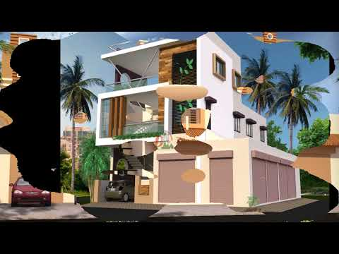 house plans with attached shop in india