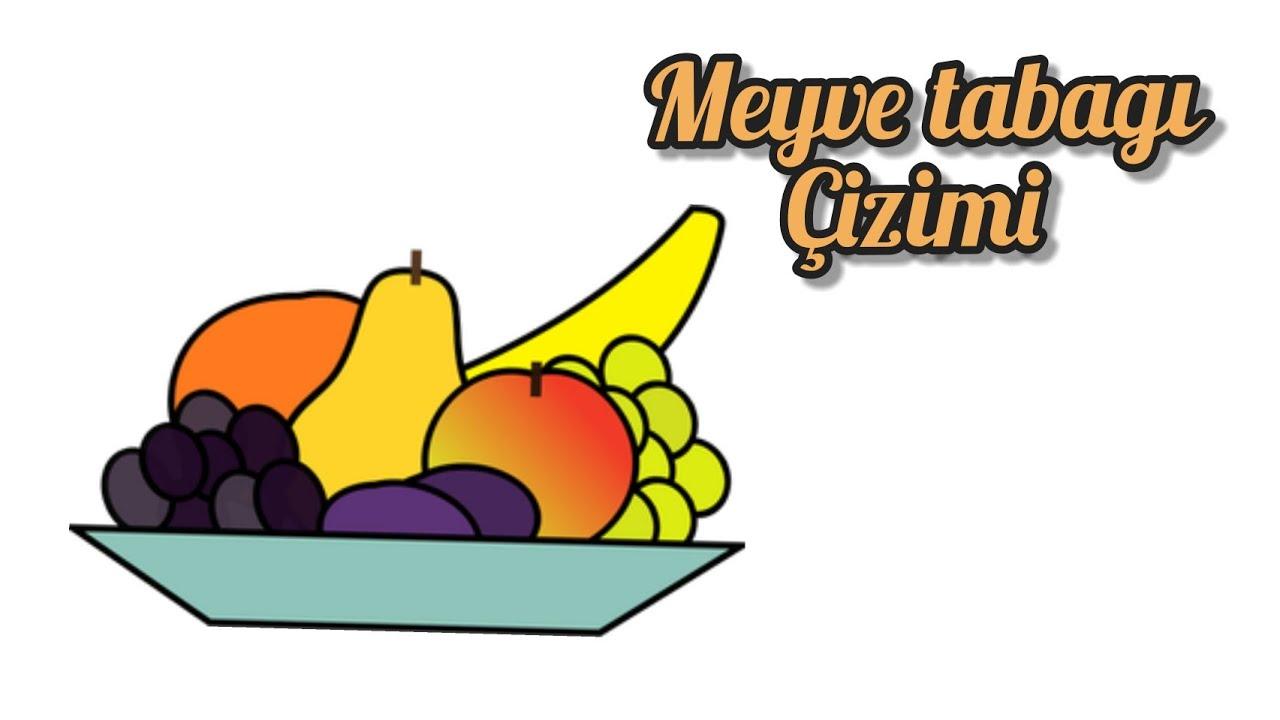 Kolay Meyve Tabağı Çizimi | Natürmort | Easy Fruit Plate Drawing For Kids | Fruit