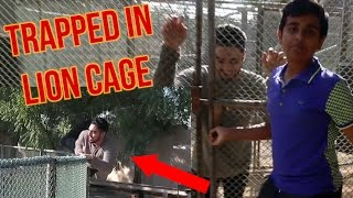TRAPPED HIM IN A LION CAGE PRANK!