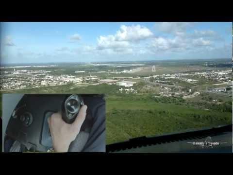 LANDING - AIRBUS SIDE STICK & STEERING-WHEEL OPERATION (SBNT RWY16L - Natal VISUAL DAYLIGHT)