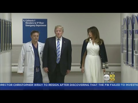 President Trump Visits Florida Hospital