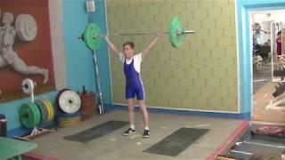 Ксенофонтов Матвей, 13 лет, вк 42 Рывок 42 кг