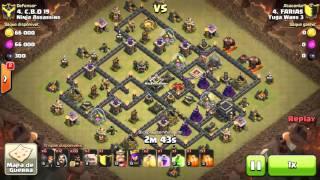 FARIAS clash of clans - cv9 attack goho