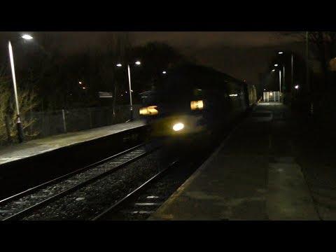 37057 and 37116 thrash Trafford Park working Crewe CS - Crewe CS test train 18/01/18