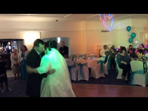 Justin and Sarah first dance at Roman Way Hotel, Cannock