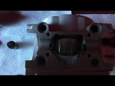 Cylinder re-plate and power valve cleaning assembly CMF ktm 300 2014