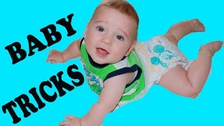 BABY TRICKS & Milestones ~ BABY ELI Check Up Army Crawl Spin Baby TOYS Barbie Lion Guard Family Fun
