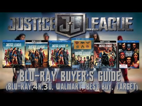 JUSTICE LEAGUE - 4K / BLURAY UNBOXING (BLU, 3D, 4K, WALMART, BEST BUY, TARGET) - BLURAY BUYERS GUIDE