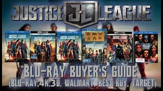 JUSTICE LEAGUE - 4K / BLURAY UNBOXING (BLU, 3D, 4K, WALMART, BEST BUY, TARGET) - BLURAY BUYERS GUIDE