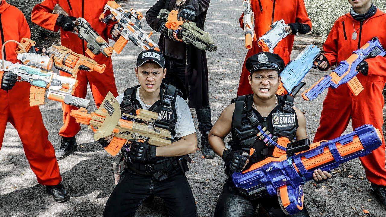 LTT Nerf War : Police Group SEAL X Warriors Nerf Guns Fight Criminal Dr Ken Crazy Brutal Avenger