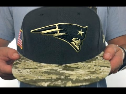 Patriots  2016 SALUTE-TO-SERVICE  Grey-Desert Fitted Hat by New Era ... b8bf64e61d2