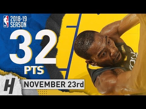 Kevin Durant Full Highlights Warriors vs Blazers 2018.11.23 - 32 Pts, 7 Ast, 8 Rebounds!