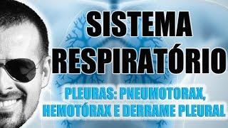 Vídeo Aula 025 - Sistema Respiratório - Pleuras: Funções, Pneumotórax, Hemotórax e Derrame Pleural