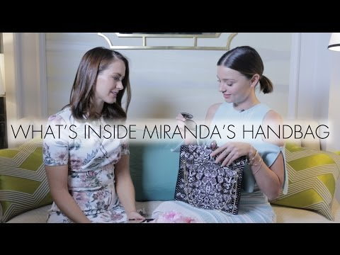 What's Inside Miranda Kerr's Handbag