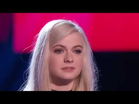Holly Henry The Scientist the voice of  USA blind audition