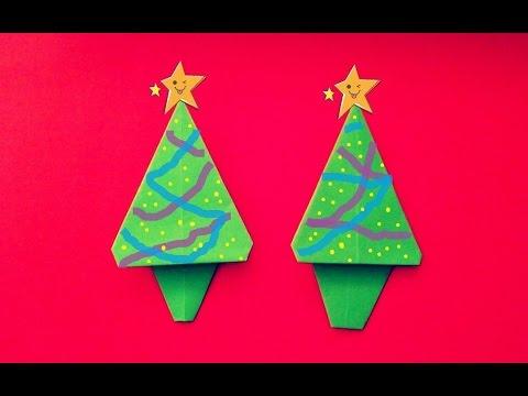 origami papiroflexia arbol de navidad muy sencillo y