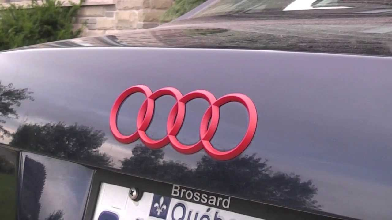 Audi A4 Logo Red Plastidip Youtube