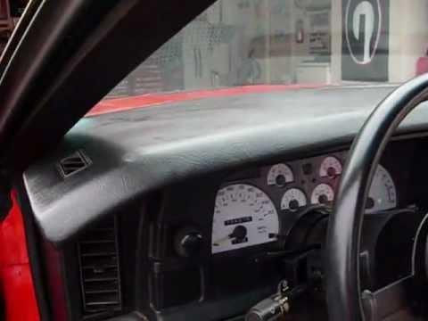 1A Auto Dash Cap 1991 Camaro RS
