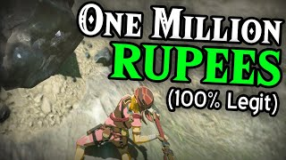 Getting 1 MILLION Rupees in Breath of The Wild for Zelda!