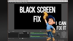 How To Fix OBS Black Screen