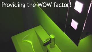 Rgb Colour Change Bathroom Cabinets From Illuminated Mirrors (slimline And Shaver)