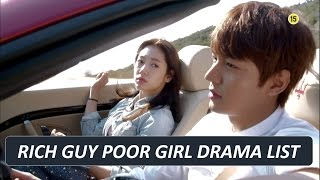 MY BEST KOREAN DRAMA SERIES - GENRE : RICH GUY POOR GIRL / RICH GIRL POOR BOY ( TOP 20 LIST )