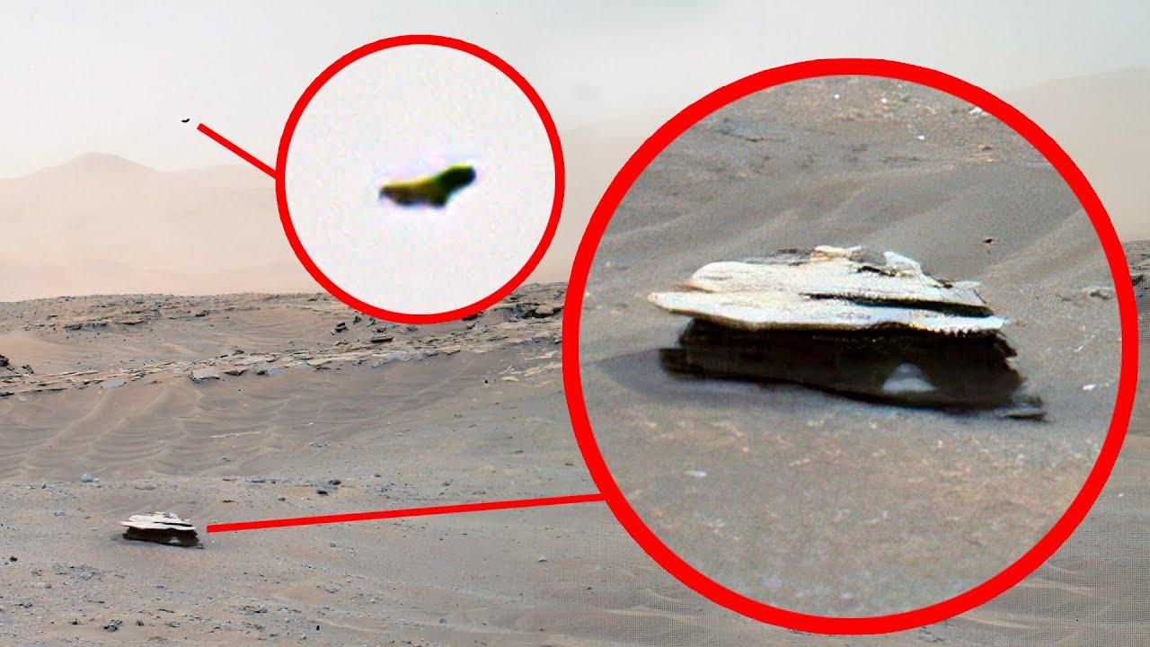 inusual objeto metálico y avistamiento extraño capturado en marte por el Curiosity Mars exploración