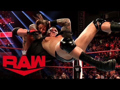 The Viper crashes The O.C.'s victory party with an RKO: Raw, Dec. 2, 2019
