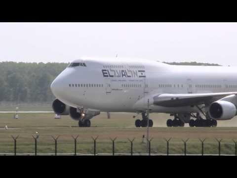 El Al Israel Airlines Boeing 747-400 Landing And Take-off At Budapest-Ferihegy