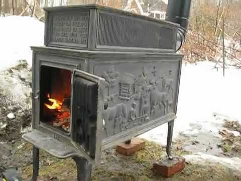 J 248 Tul 118b Old Wood Stove Youtube