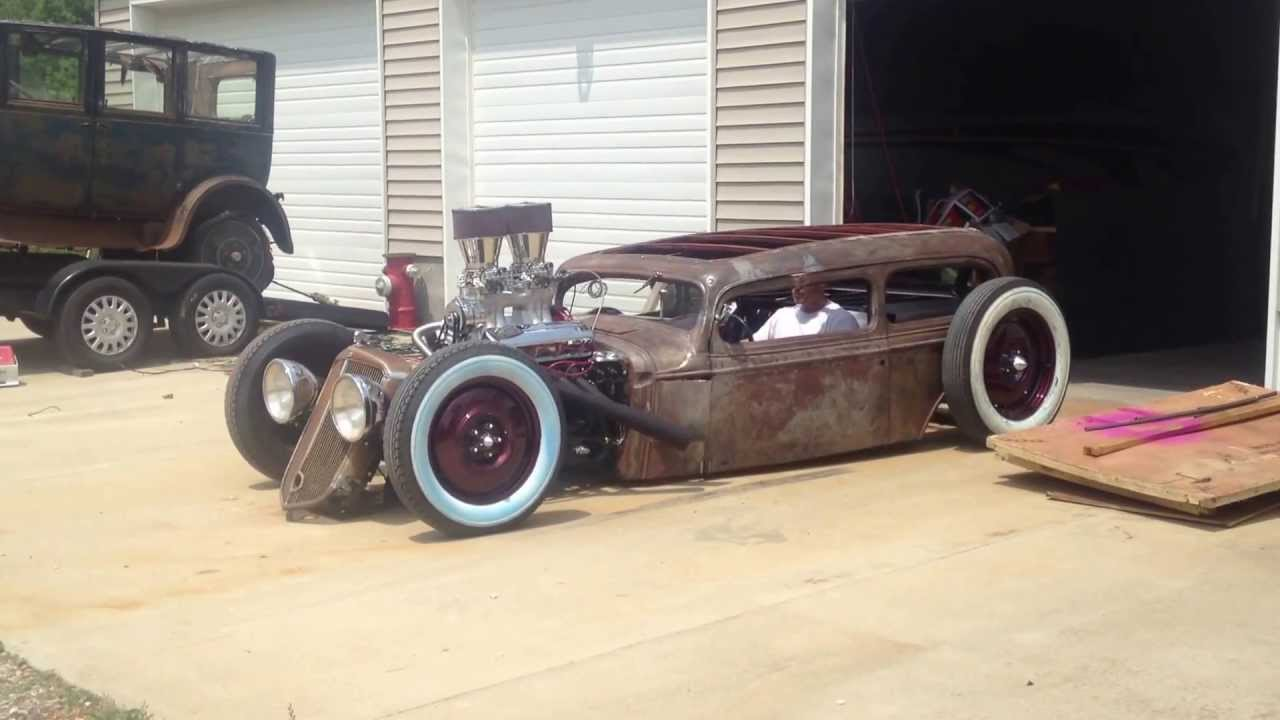 1933 Chevy Tudor Sedan Rat Rod 1st Run - YouTube