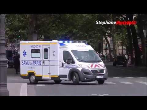 New Ambulance Responding In Paris (SAMU Hotel-Dieu)