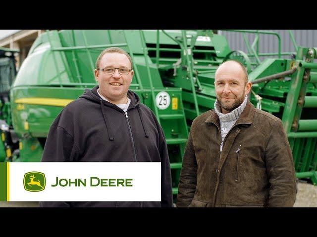 John Deere - Customer experience L1524 Baler, Peyrard, France