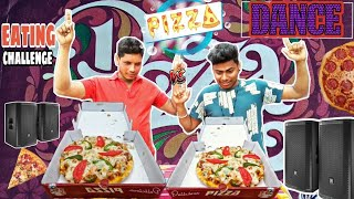 डांस pizza खाने का मुकाबला   Pizza eating challenges  Pizza eating competition  food challenge India