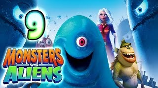 Monsters VS Aliens Walkthrough Part 9 (PS3, X360, Wii, PS2) ~ Ginormica Level 9