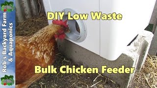 Cheap chicken feeder, how to build a bulk chicken/poultry feeder, PT1..