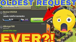 THIS GUY IS WAITING SINCE 2015 DAYS - Five and Half Years FOR TROOPS || Clash Of Clans || OLDEST REQ