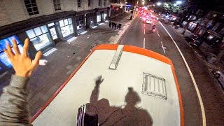 DOUBLE DECKER BUS SURFING