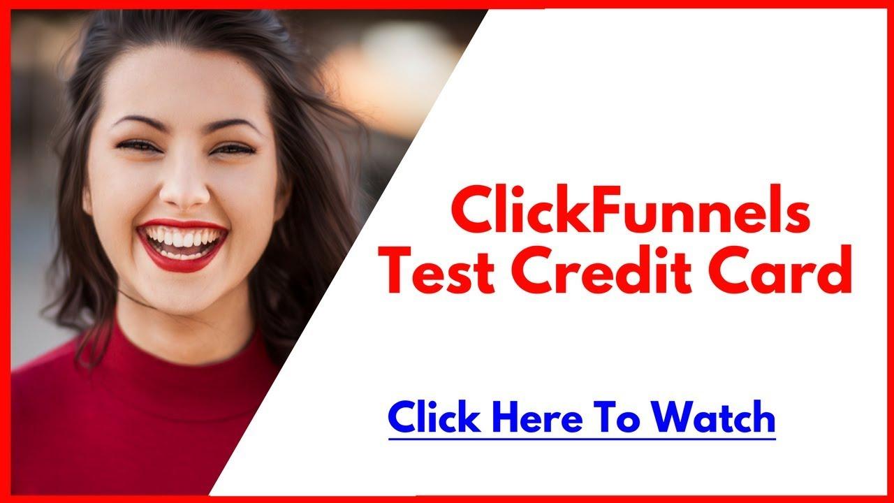 ClickFunnels Test Credit Card