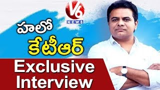 Watch V6 Exclusive Interview With Telangana IT And Municipal Develo...