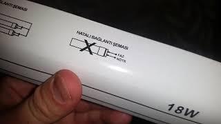 SPEKTRUM T08 1252 LED TÜP ADVANCE 120 CM KUTU AÇILIMI(UNBOXİNG) VE ÜRÜN İNCELEME (BURLA MAKİNA)