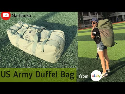 US Army Military Duffel Bag From EBay