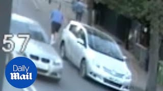 CCTV shows elderly man knocked unconscious by thug driver