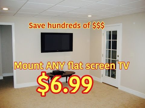 DIY Wall Mount ANY Flat Screen TV for only $6.99!  How To Video