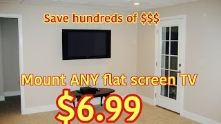 How To Wall Mount Your Flat Screen T.v. For $6.99! Diy