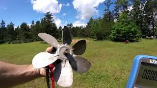 Normal AC Fan Motoru Rüzgar Elektrik Üretir